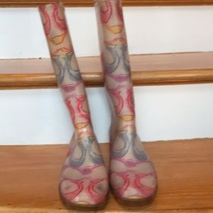 Coach colorful Logo rainboots very comfortable